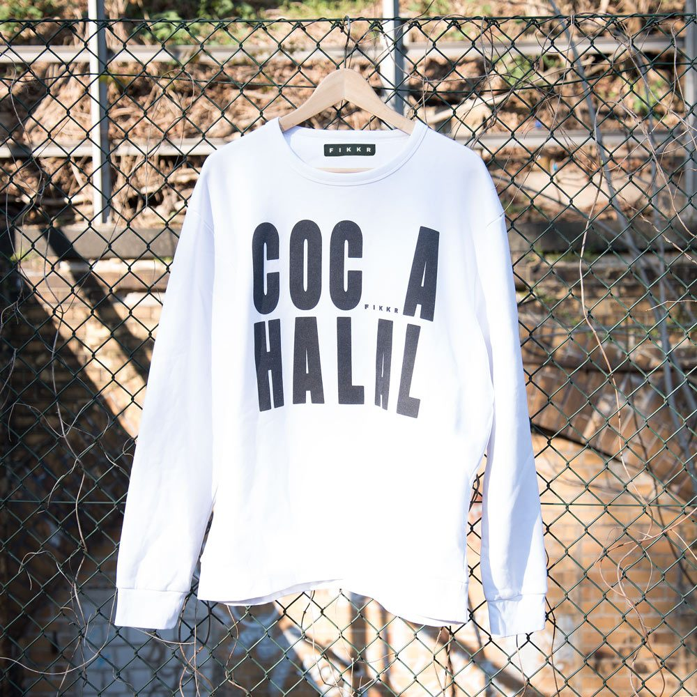 coca halal sweater weiss zaun